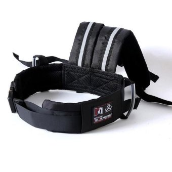 Adjustable Children Safety Belt for Motorcycle Bicycle &Electric Vehicle with Reflective Strips (Black) - intl