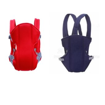 Adjustable Straps Baby Carriers (Blue/Red) Set Of 2
