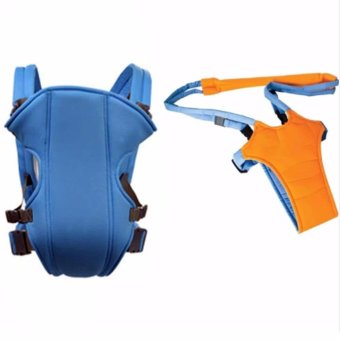 Adjustable Straps Baby Carriers model#108(Light Blue) With MoonWalk Baby Walker