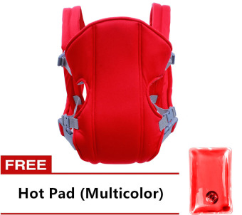 Adjustable Straps Baby Carriers (Red) with Free Hot Pad(Multicolor)