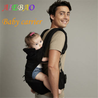 AIEBAO Baby Carrier Waist Belt Infant Hip Seat Black - intl