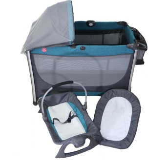 Akeeva Luxury Aluminum Playpen (Teal)