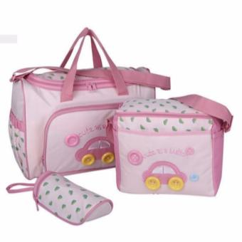 All in One Diaper Bag 4 Pieces Mommy Bag 4 in 1 Nappy Changing Bag Baby Bottle Holder Sling Bag Baby Essentials Shoulder Bag