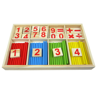Amango Wooden Mathematics Material Counting Toy random - picture 2