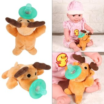 Animal Design Pacifier Silicone Baby Soother # Little Bear - intl - 5