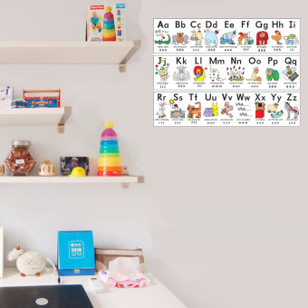 Animals ABC Alphabet Learn Children Educational Silk Cloth Poster Decor 33x43cm - intl - 5