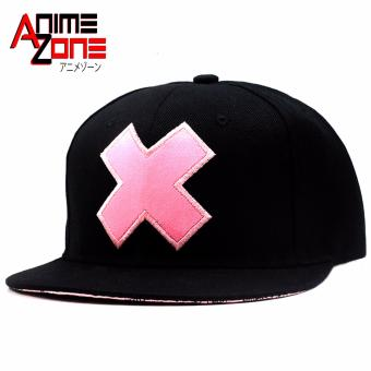 ANIME ZONE Chopper Sensei One Piece Unisex Fashionable Snapback Cosplay Cap (Black/Pink) Price Philippines