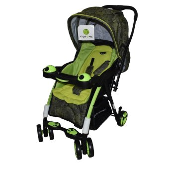 Apruva Folding Deluxe Baby Stroller with Reversible Handle, Green