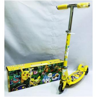 AS FORTUNE Ride-on Push Scooter for Kids with Laser Wheel