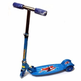 AS FORTUNE Ride-on Push Scooter for Kids with Laser Wheel(Blue)