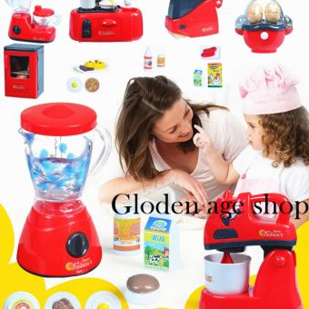 AS SEEN ON TV BIG 21 PCS Kids Children Babies Kitchen Cooking Toy Play Set with Light and Sound Educational Learning Toy Red