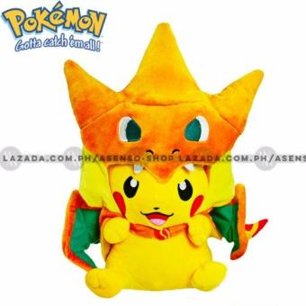 Asenso Pokemon Pikachu Charizard Cosplay Plush Stuffed Toy