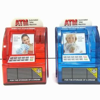 ATM Money Coin Bank Saving Box Machine (Red) - 3
