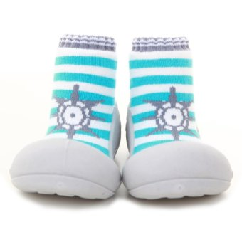 Attipas Baby Shoe Socks with Marine Design (Green)