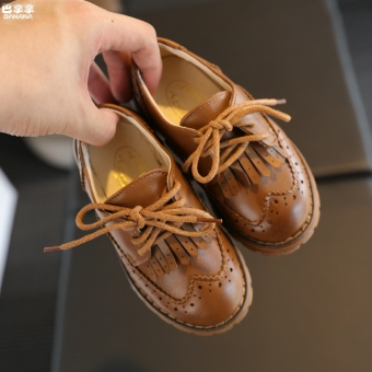 Autumn and Winter British New style for men and women children's leather shoes