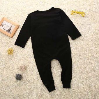 Autumn Baby Boy Long Sleeve Bodysuit Romper 6-24 Months (Black) -Intl - 3