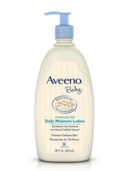 Aveeno Baby Daily Moisture Lotion Fragrance Free 18 fl oz. 532ml