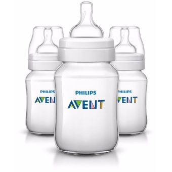 AVENT Classic 9 Ounce Bottles 3-Pack (Clear)