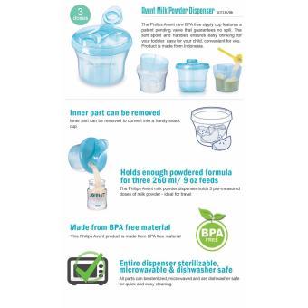 AVENT MILK DISPENSER BPA FREE SNACK CUP ( BLUE ) - 2