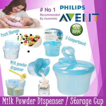 AVENT MILK DISPENSER BPA FREE SNACK CUP ( BLUE ) - 3