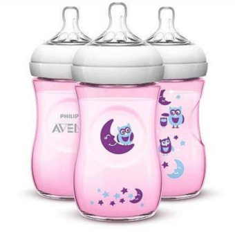 Avent Natural 9 Ounce 3 Pack Bottles - Owls