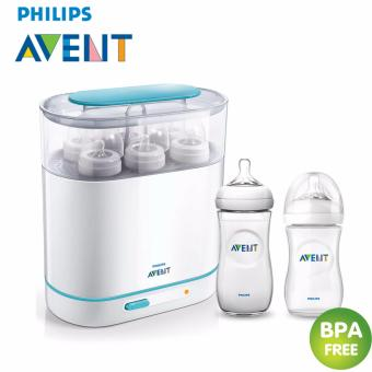 Avent sterilizer + Philips Avent Natural Feeding Bottle 260ml + Baby-Z Philips Avent Natural Feeding Bottle 330ml