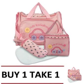 Baby 002 Cute Diaper Bag (Pink) Buy 1 Take 1