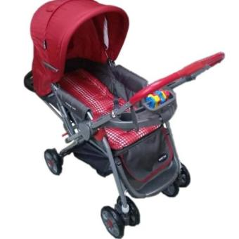 Baby 1st CD-S036B Stroller w/ Toy and Reversable Handle (Red) - 2