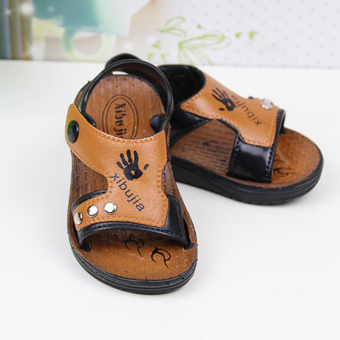 Baby Baobao model leather boy's toddler shoes children's sandals