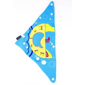 Baby Beanie with Bib Toddler Beanie Hat Soft Cotton Unisex BonnetFood Bib Costume Girls Boys (BLUE) - 5
