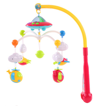 Baby Bed Bell Musical Mobile Crib Dreamful Bed Ring Hanging RotateBell - intl