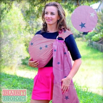Baby Boom Adjustable and Breathable Printed Ring Sling Baby Carrier