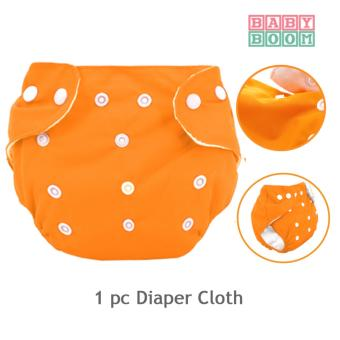 BABY BOOM Baby Cloth Diaper (Orange)