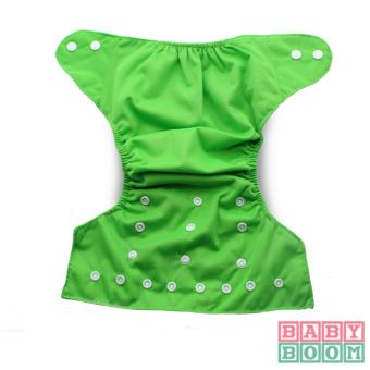 BABY BOOM Diaper Cloth Set of 2 with 3pcs TERRY CLOTH Inserts (Green/Purple) - 4