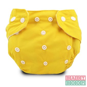 BABY BOOM Diaper Cloth Set of 2 with 3pcs TERRY CLOTH Inserts (Yellow/Red) - 3
