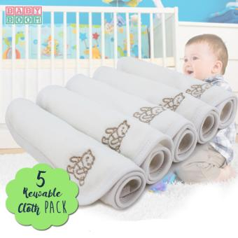 Baby Boom Infant Newborn Cotton Wipes and Burpcloth for SensitiveSkin- 5pcs