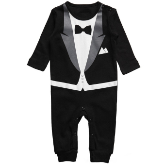 Baby Boy Infant Formal Tuxedo Pants 1pcs Jumpsuit Gentleman Clothes