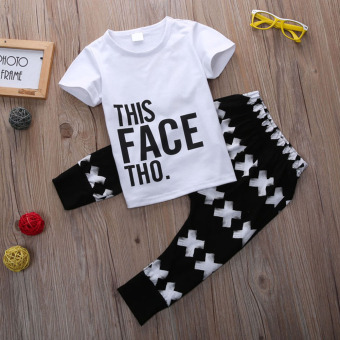 Baby Boy Toddler Casual T-shirt Tops+Harem Pants 2pcs Outfits
