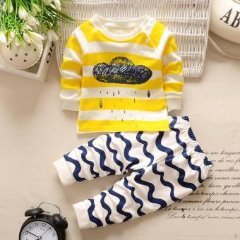 Baby Boys Girls Pajamas Clothes Kids 2Pcs Clothing Set - intl