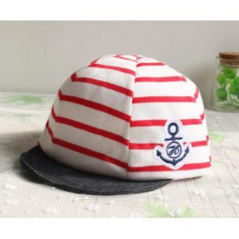 Baby Boys Girls Striped Anchor Lucky Hat Infant Newborn Kids Cap - intl - 4