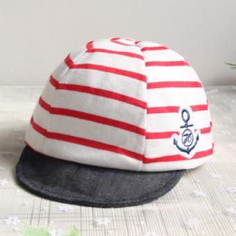 Baby Boys Girls Striped Anchor Lucky Hat Infant Newborn Kids Cap - intl - 2