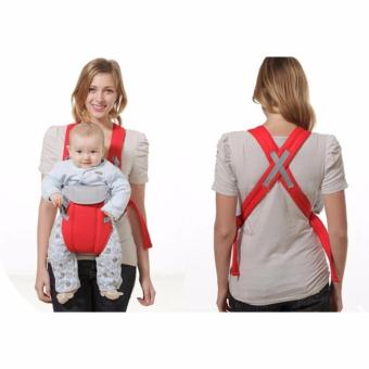 Baby Carrier sling wrap Rider Infant Comfort backpack (Red) - 2