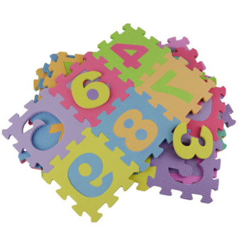 Baby Child Foam Play Letter Print Puzzle Floor Mat (Multicolor) - 3