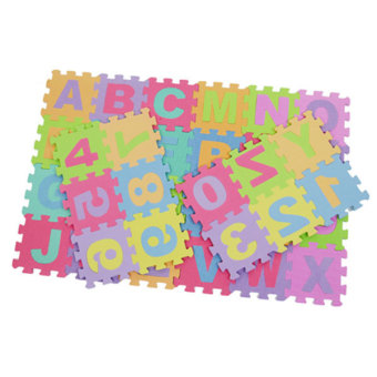 Baby Child Foam Play Letter Print Puzzle Floor Mat (Multicolor) - 2