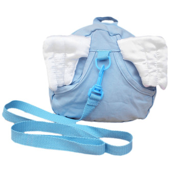 Baby Child Wings Style Cotton Anti Lost Safety Harness Leash RopeBag Backpack Blue