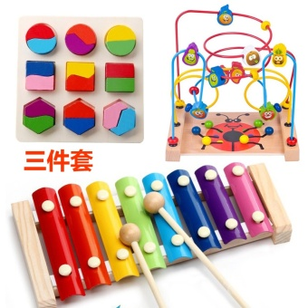 Baby children's large music toys around the bead