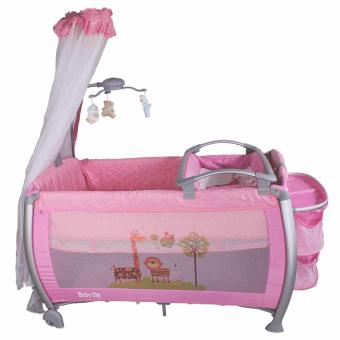 Baby City Play yard Play Pen and Crib with Net (Pink) - 2
