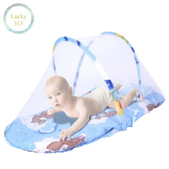 Baby Cradle Bed Mosquito Insect Net (blue)