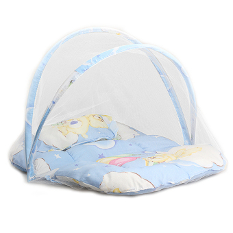 Baby Cradle Bed Mosquito Insect Net Infant Cushion