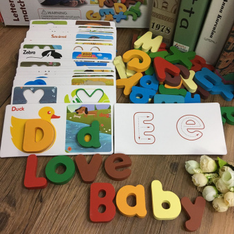 Baby early childhood animal cognitive lettered with numbers card